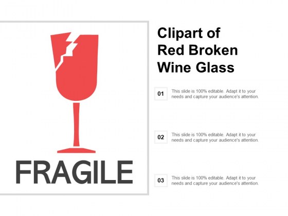 Clipart Of Red Broken Wine Glass Ppt PowerPoint Presentation.