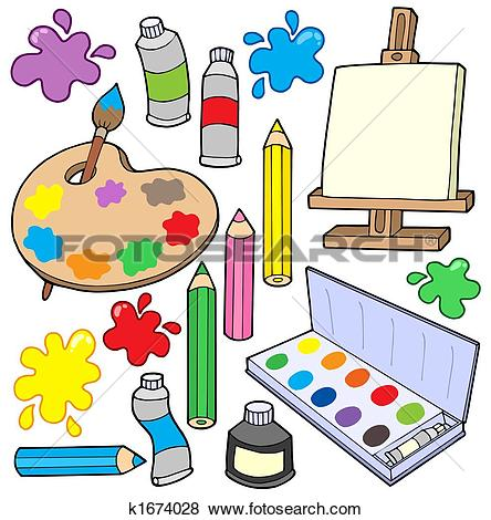 Stock Illustration of Artist Painter k16007626.