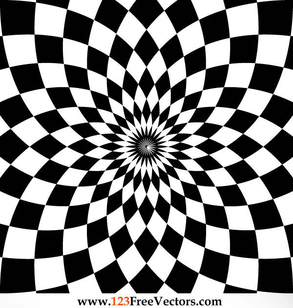 Optical Illusion Vector Clip Art.