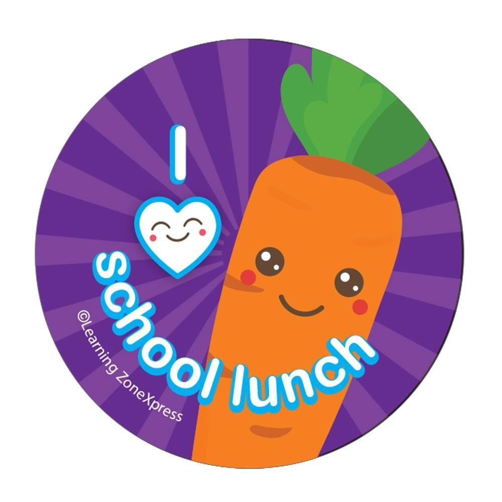 I Heart School Lunch Stickers.