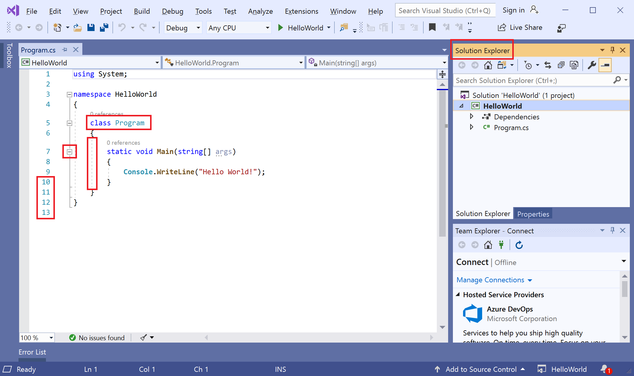 Overview of Visual Studio.