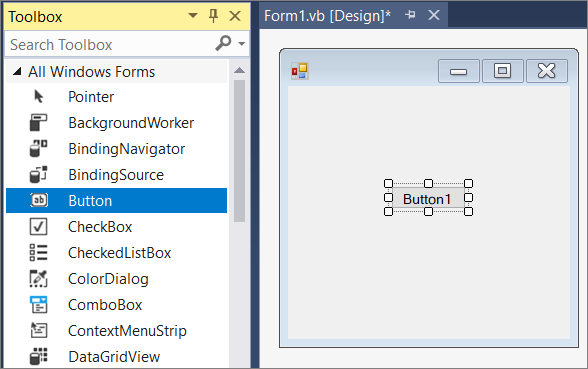 Create a Windows Forms app with Visual Basic.
