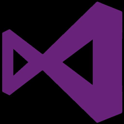 2012, 2015, microsoft, visualstudio icon.