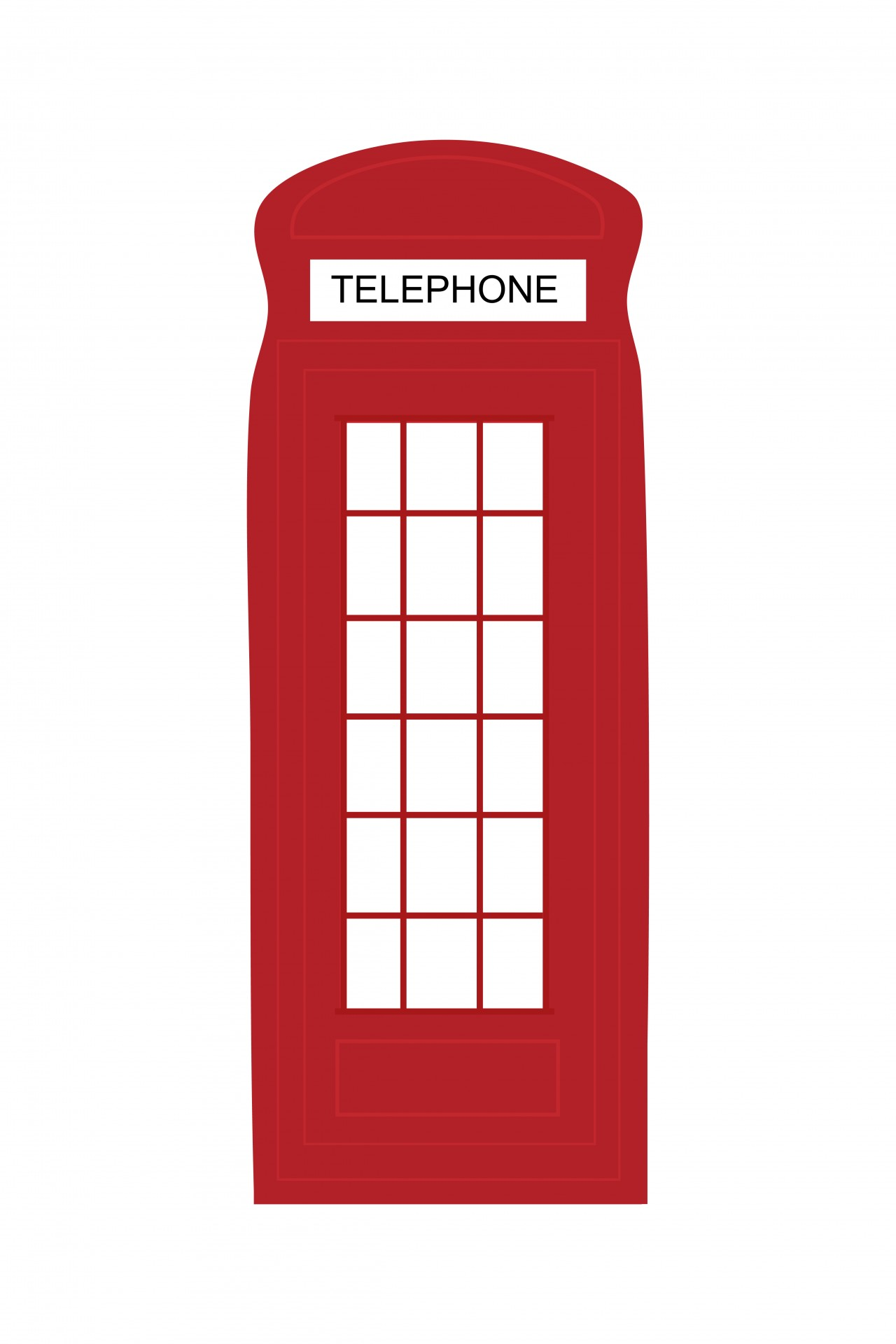 London Telephone Box Clipart.