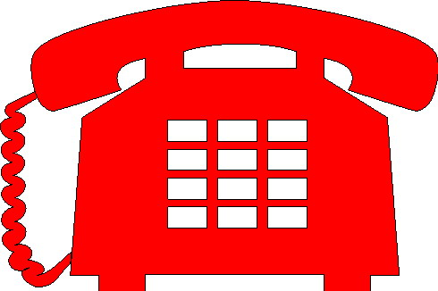 Red Telephone Clipart.