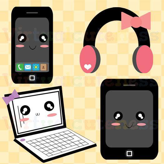 Cute Technology Clip Art.