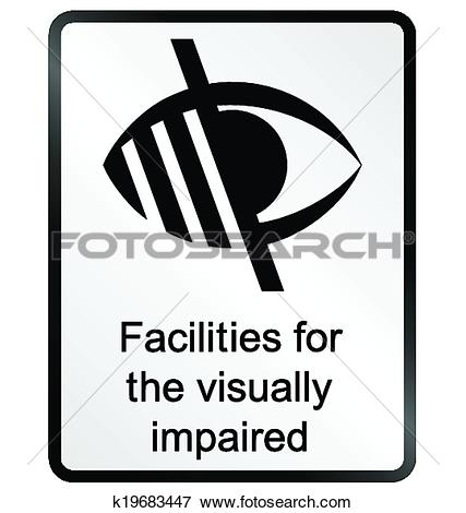 Clip Art of Visually Impaired Information Sign k19683447.