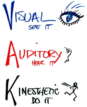 Visual Learning Styles Clipart.
