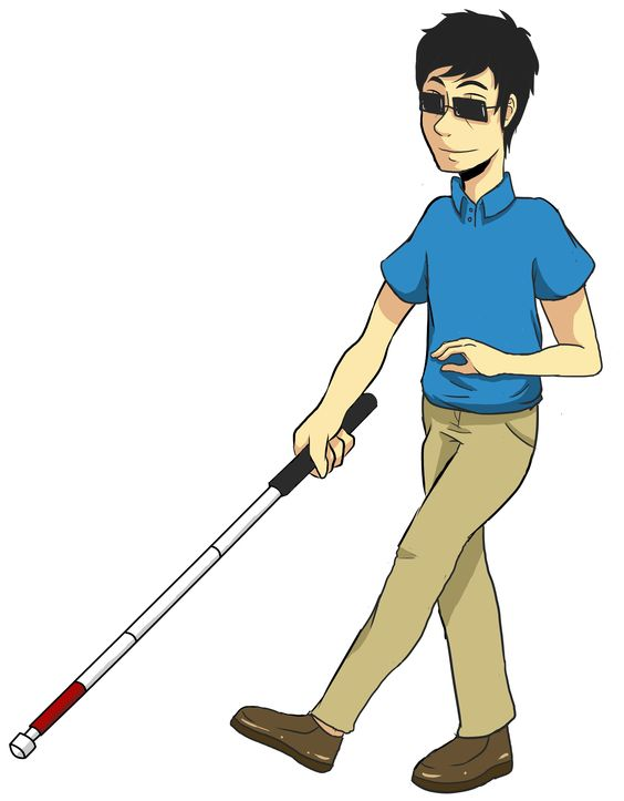 Clip art: Orientation and Mobility.