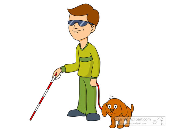 Clipart blind man.