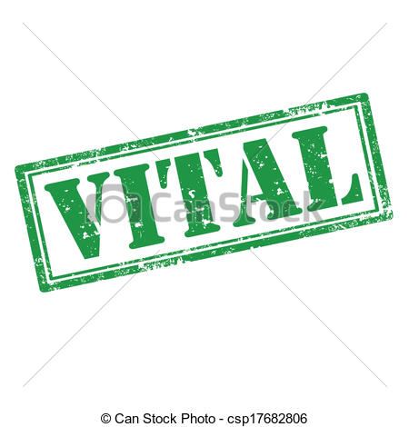 Vector Clipart of Vital.