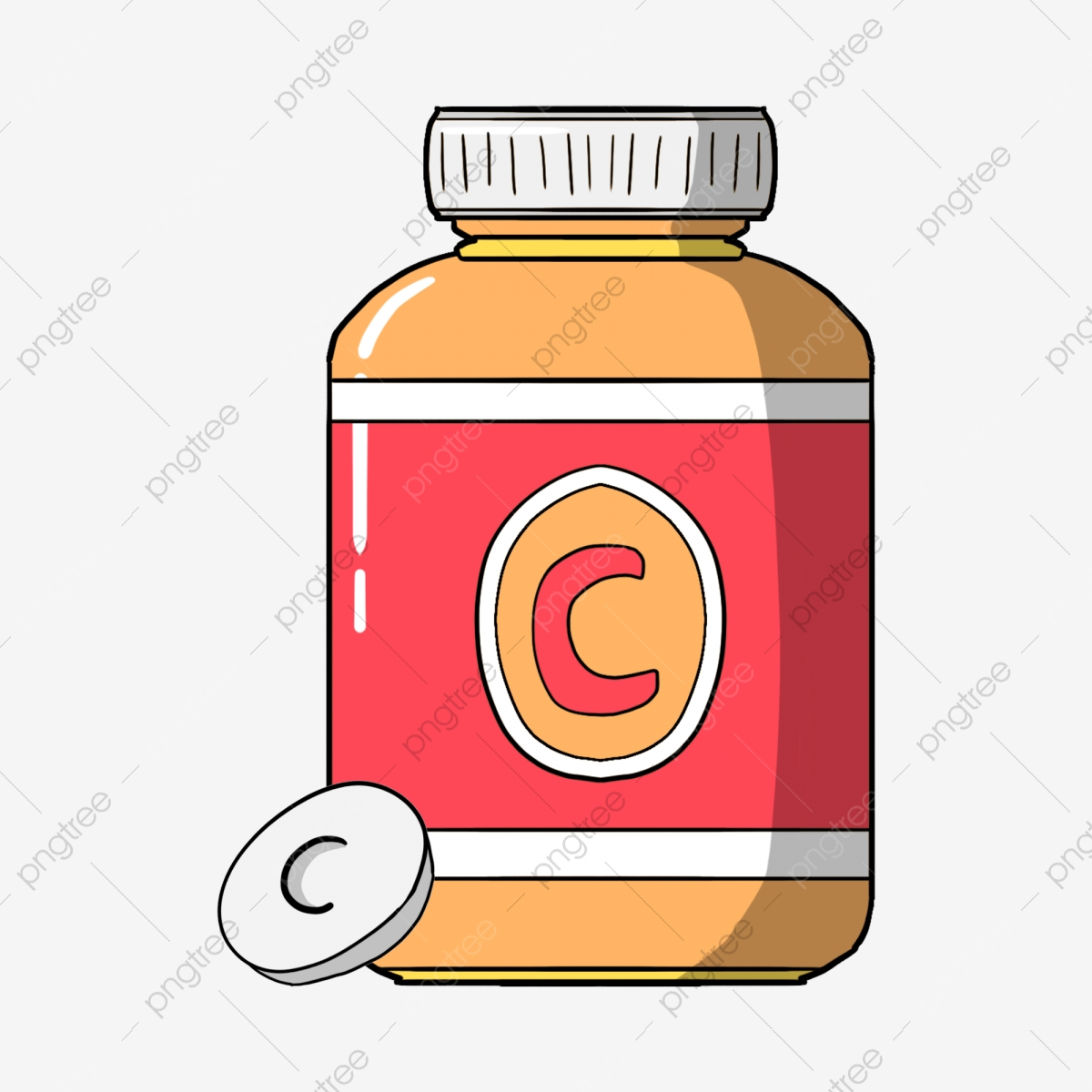 Vitamin Bottle, Bottle Clipart, Pill, Bottle PNG Transparent Clipart.