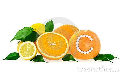 Orange Vitamin C Stock Photos.
