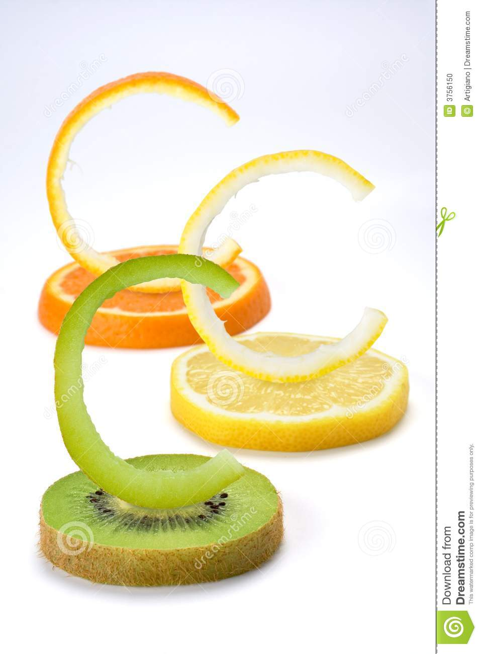 Vitamin C Fruits Vertical Stock Photo.