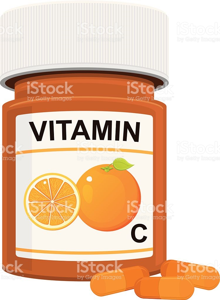 Vitamin C Bottle stock vector art 516550371.