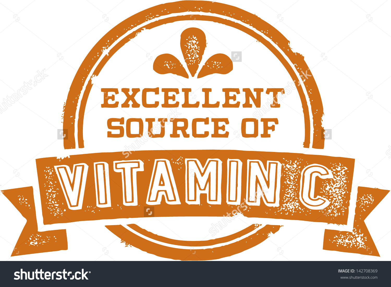 Vitamin C Clip Art.