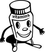 Clip art vitamin.