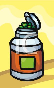 Bottle of Vitamins.