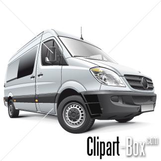 Mercedes Sprinter Clipart.