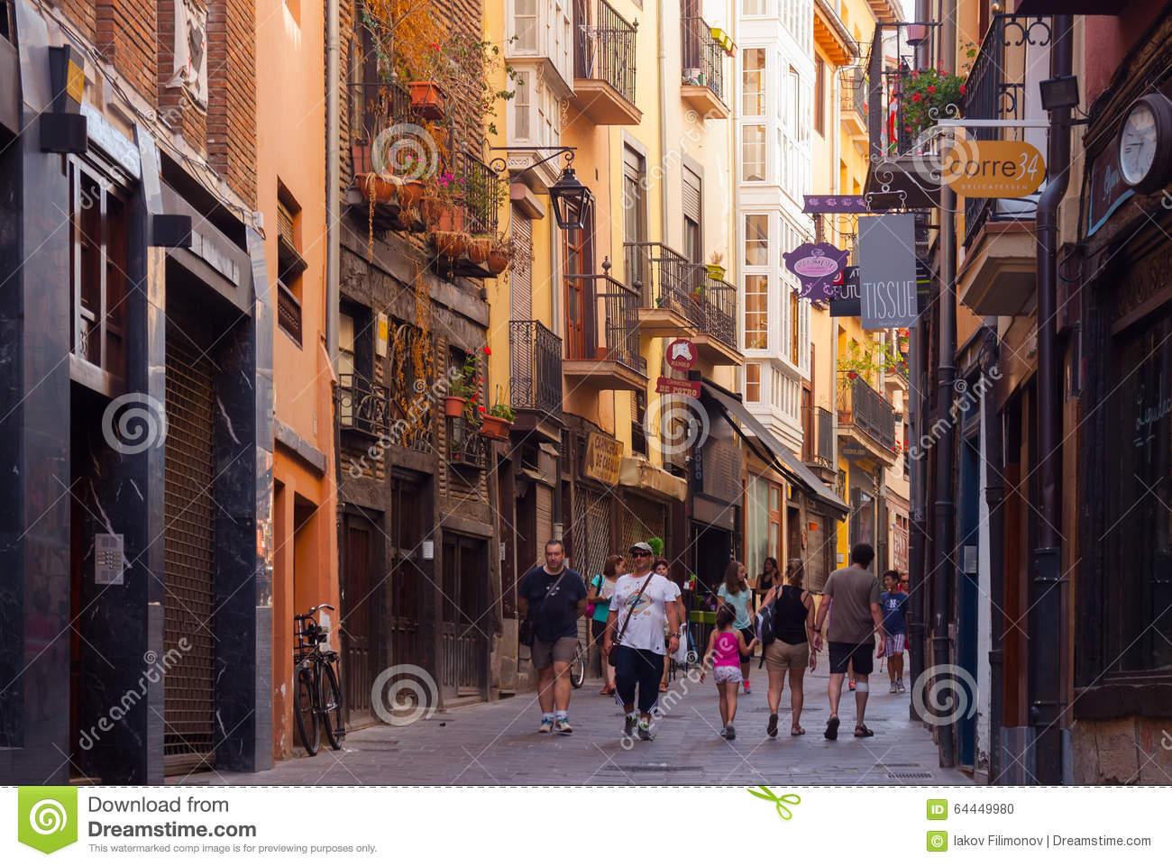 Street View Of Vitoria.
