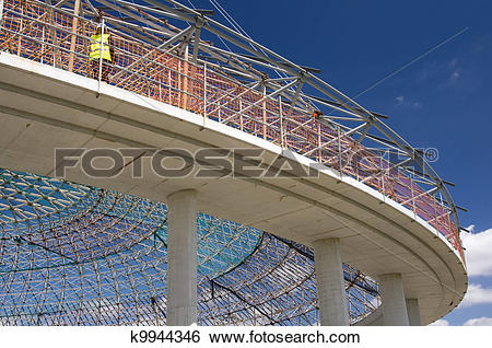 Stock Images of The dome of indoor sports arena in Vitoria.