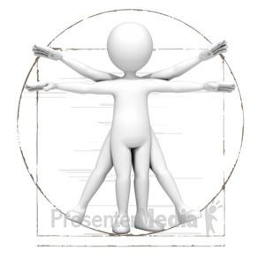 Vitruvian Stick Figure.