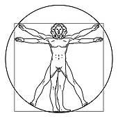 Vitruvian Man Clip Art.