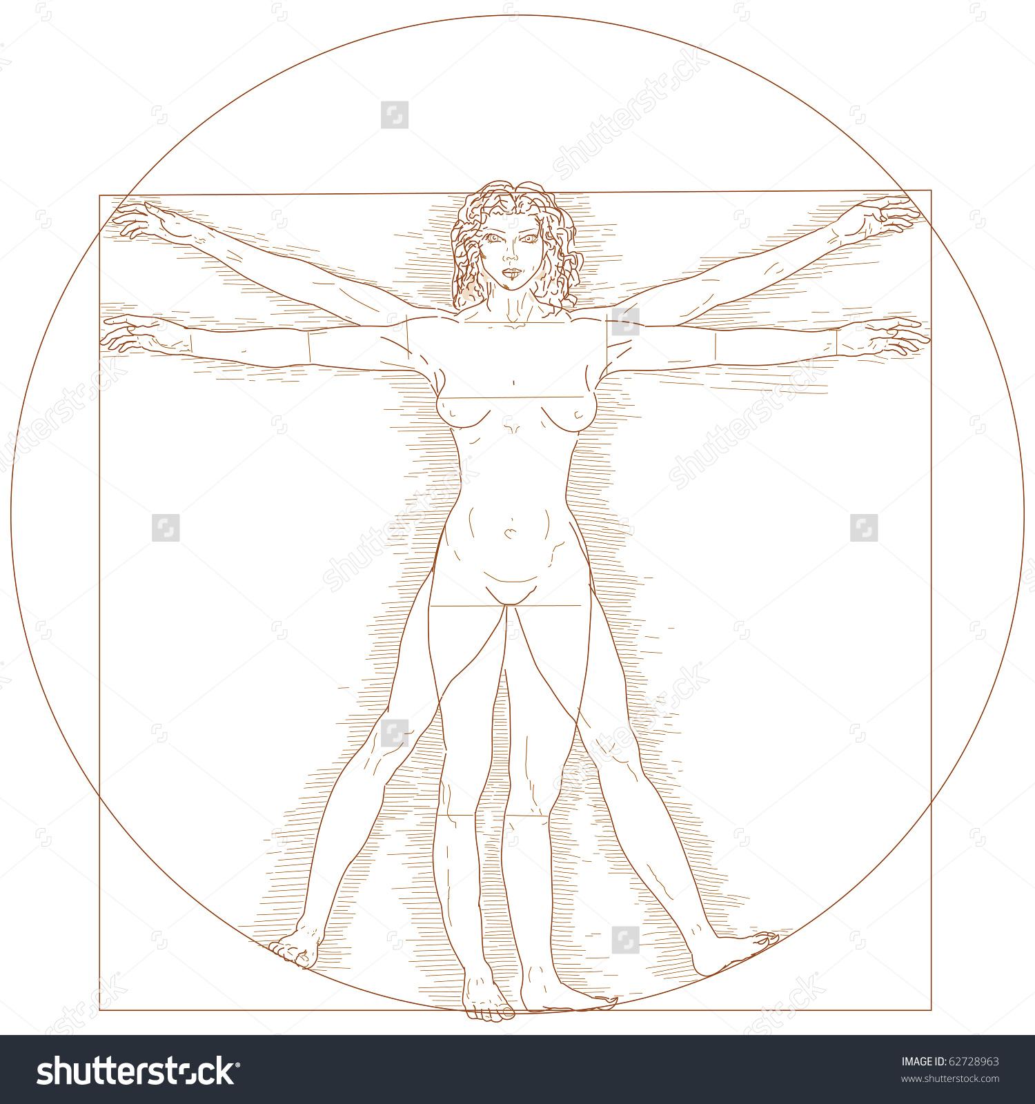 Vitruvian Woman Illustration Stock Illustration 62728963.