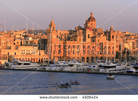 Vittoriosa Waterfront Stock Photos, Royalty.
