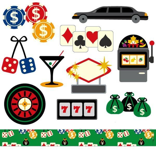 Las Vegas casino clipart sale, commercial use, digital images, poker.