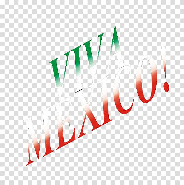 Logo Brand Line, Viva Mexico transparent background PNG.