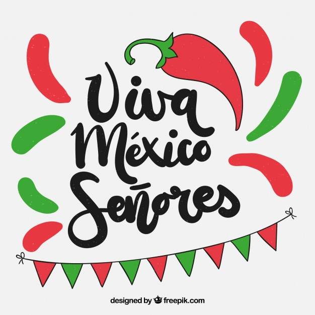 Colorful viva mexico background.
