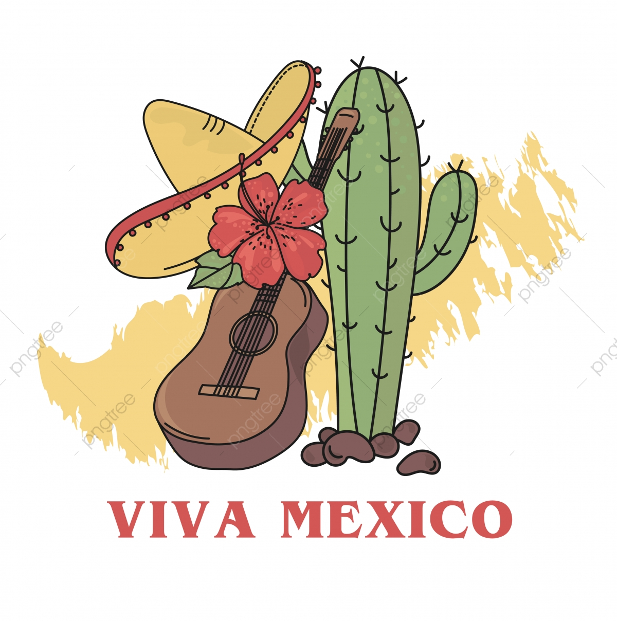 Viva Mexico, Long Live Mexico, National Day, Cactus PNG and Vector.