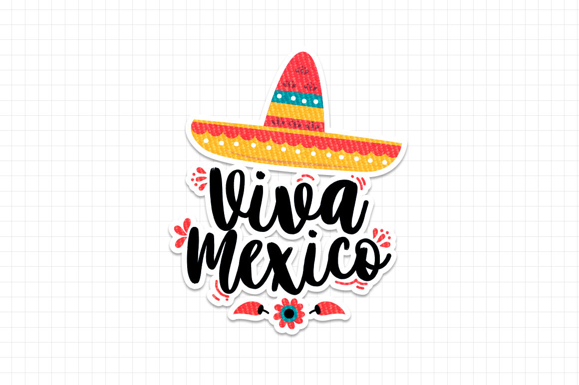 Viva mexico illustration.