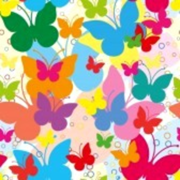 Vivid Seamless Background With Butterflies.