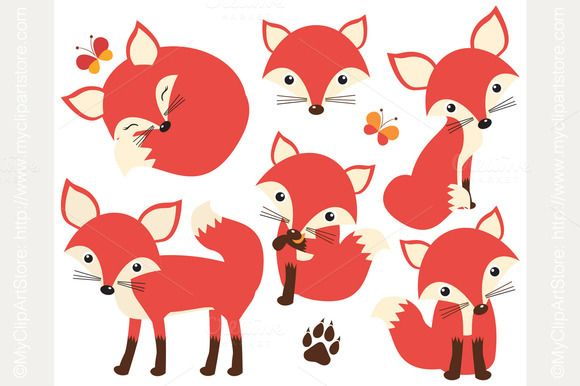 Check out So Foxy! (Fox / Vixen Clipart) by MyClipArtStore on.