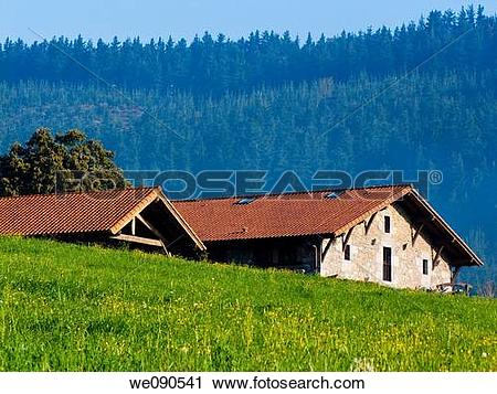 Stock Photography of Farmhouse in Ma±aria. Vizcaya. Basque Country.