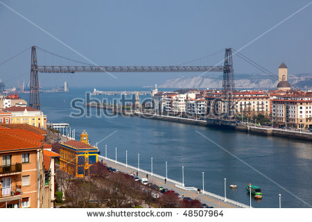 Vizcaya Bridge Stock Photos, Royalty.