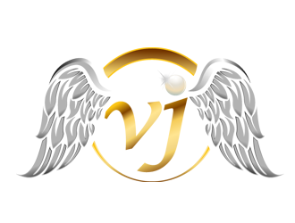 VJ Hair logo design.