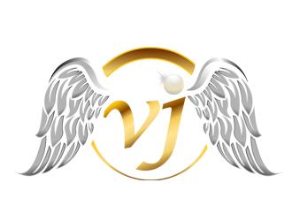VJ Hair logo design.