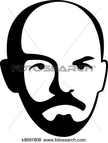 Clip Art of vector Vladimir Lenin.
