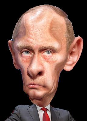 Free Vladimir Putin Caricature Clip Art.