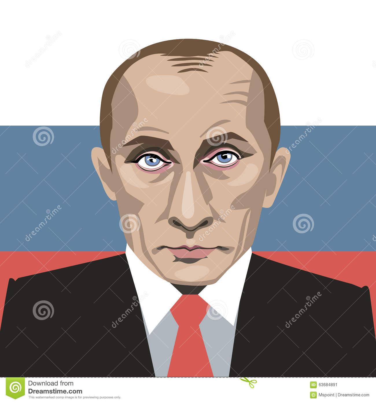 Vladimir Putin Stock Illustrations.