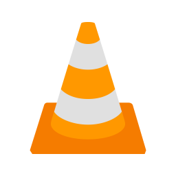 Vlc media player Logo Icon of Flat style.