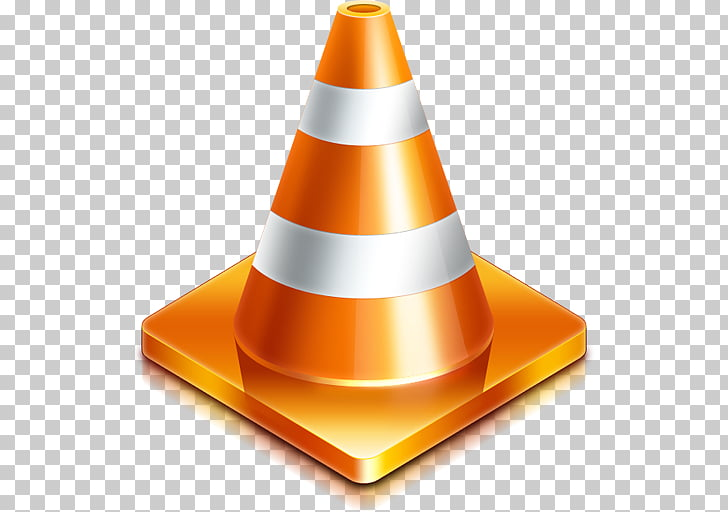 VLC media player macOS Microsoft Windows , Orange cones PNG.
