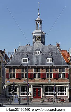 """Stock Photography of """"Old Stock Exchange, Walcheren, Vlissingen."""
