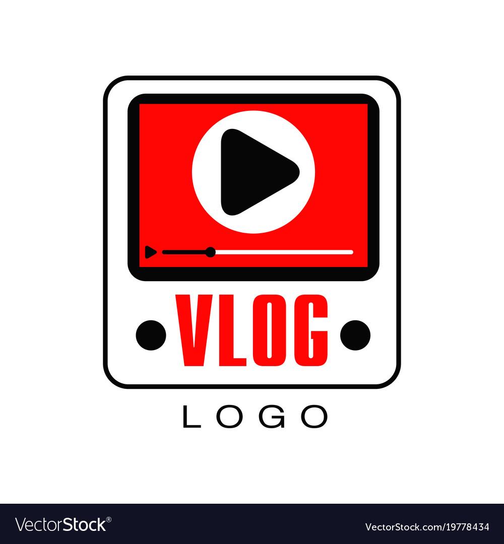 Logo for information video channel or vlog.