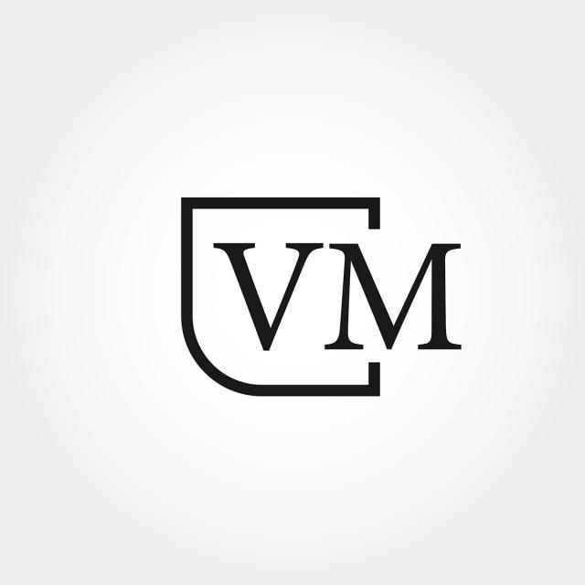 Initial Letter Vm Logo Template Design Template for Free Download on.