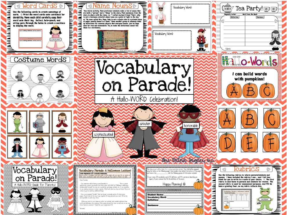 Vocabulary on Parade!.