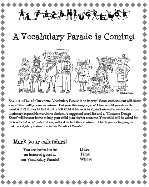 The Vocabulary Parade: A Better Reason to Dress Up!.